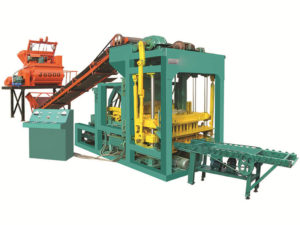 QTJ4-25 interlocking brick making machine