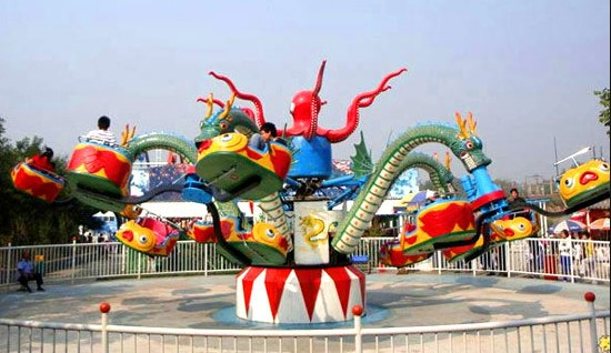 Octopus amusement ride